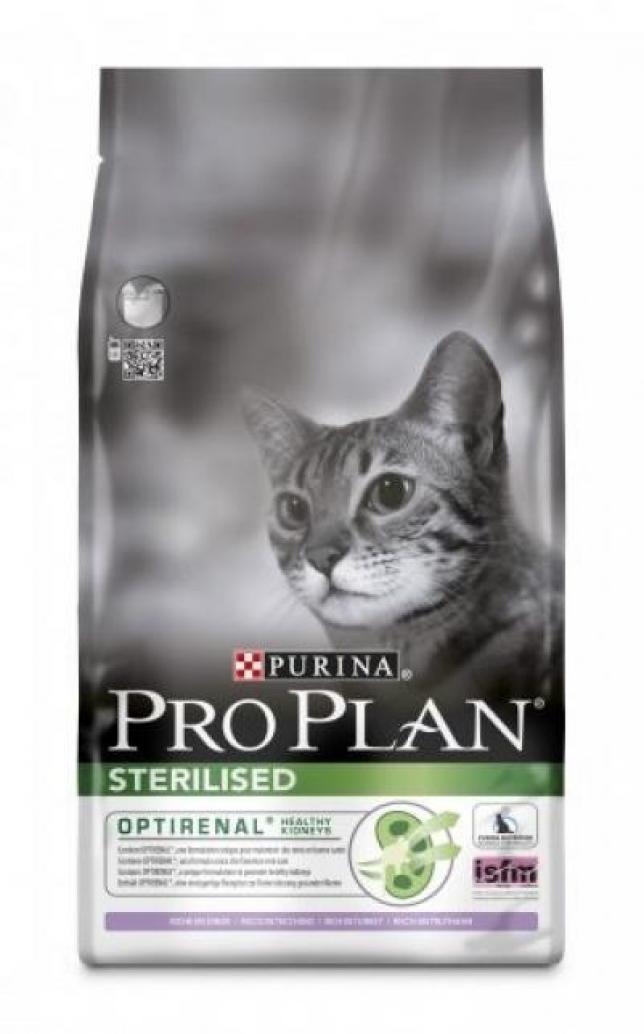 ProPlan ПРОПЛАН сухой корм для кошек стерилиз. индейка пакет, 0,1 кг