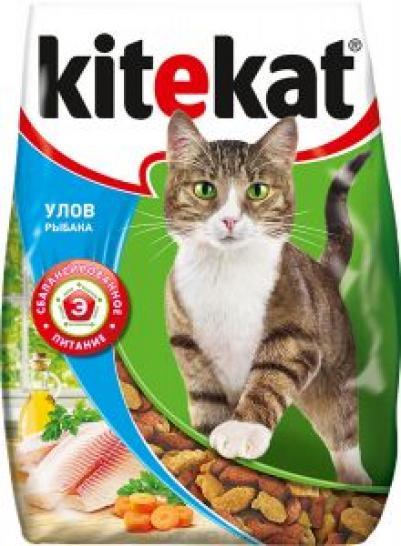 Kitekat Сухой корм для кошек рыбное ассорти, 0,1 кг