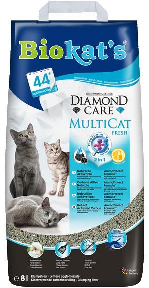 BioKats Черный бриллиант комкующийся наполнитель для кошачьих туалетов, без запаха 8 л