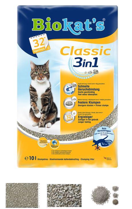 Наполнитель Биокатс Классик 3 в 1 д/туалета д/кошек, 10 л, 615752