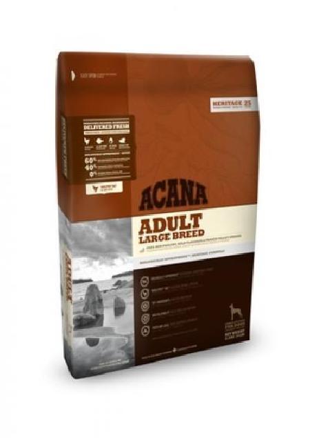 Acana Heritage корм для взрослых собак крупных пород, беззерновой, цыпленок 11,4 кг