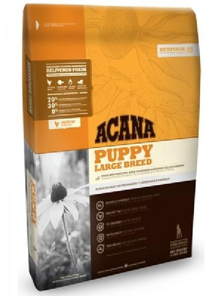 Acana Heritage корм для щенков крупных пород, беззерновой, цыпленок 11,4 кг, 51001001