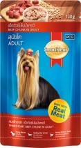 SmartHeart Смарт Харт 16459 пауч для собак №3 Говядина в соусе 130г, 82331