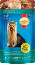 SmartHeart влажный корм для взрослых собак всех пород, курица и печень в желе 130 гр