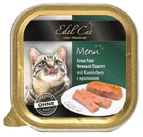 Edel Cat влажный корм для взрослых кошек всех пород, с кроликом 100 гр, 1000100784