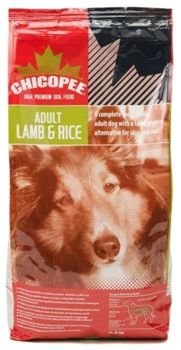 Chicopee корм для взрослых собак всех пород, ягненок и рис 2 кг