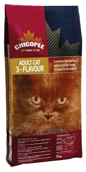 Chicopee корм для взрослых привердливых кошек всех пород, с рыбой, свининой, птицей 2 кг