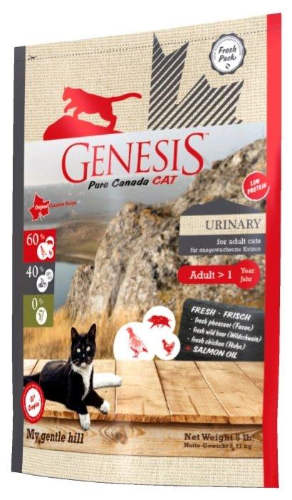 Genesis корм для взрослых кошек всех пород, профилактика МКБ, кабан, фазан и курица 2,268 кг