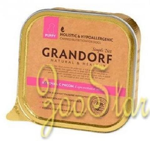 Grandorf влажный корм для щенков всех пород, курица с рисом 400 гр, 100100361