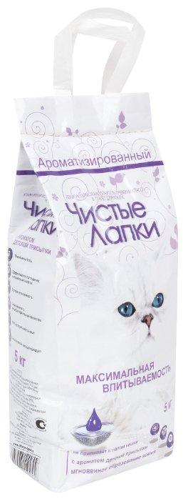 Чистые лапки Clean paws комкующийся наполнитель для кошек 5 кг
