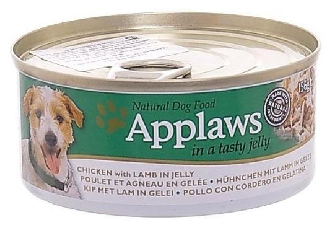 Applaws влажный корм для взрослых собак всех пород, курица с ягненок в желе 156 гр