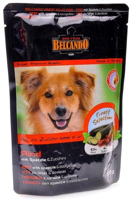 BELCANDO конс.125 г для собак Говядина с лапшой и цуккинии (пауч) (1х12) 51161501, 43350