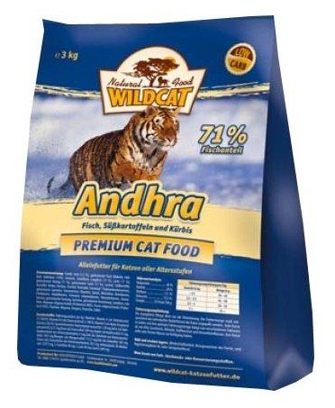 Wildcat Корм для кошек Andhra (рыба и сладкий картофель) 3 кг, WCA3