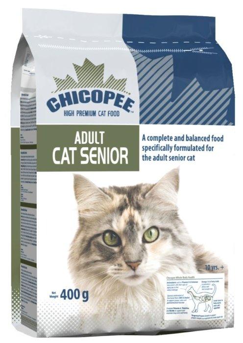 Chicopee корм для пожилых кошек всех пород, птица 400 гр