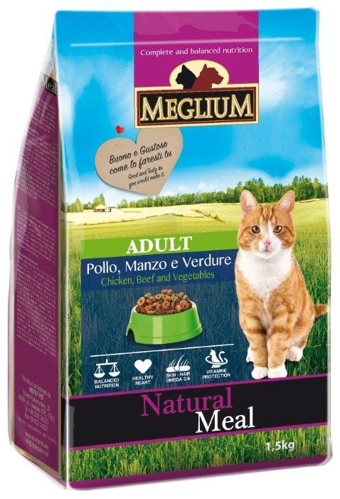 MEGLIUM ADULT Корм сух. 1,5 кг для кошек говядина курица овощи MGS0101, 64001