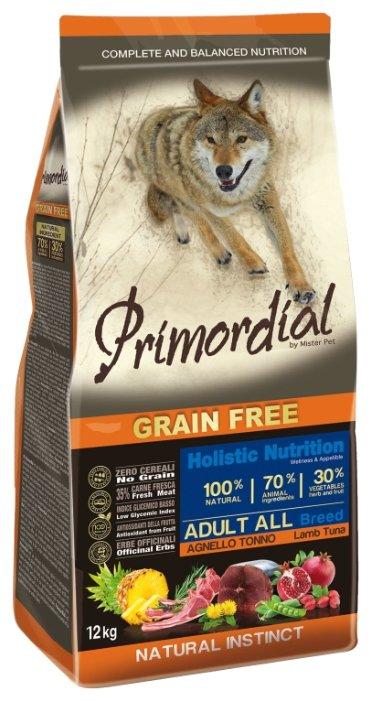 PRIMORDIAL Корм сух 12кг для собак б/зерн. тунец ягненок MSP5312, 64785