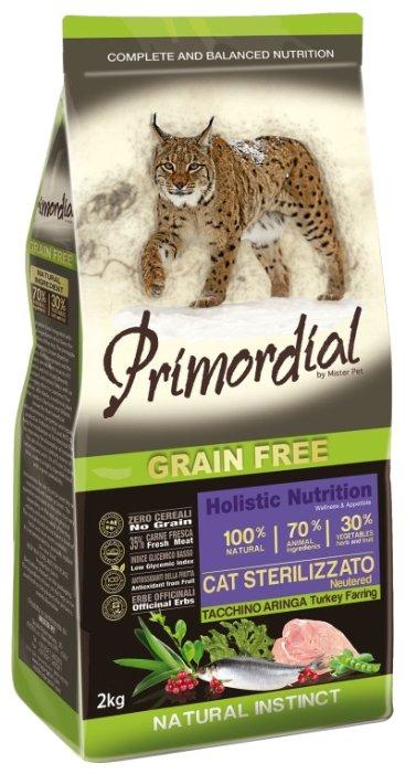 PRIMORDIAL NEUTERED Корм сух 6кг для стерилизованных кошек беззерновой индейка/сельдь MGSP1306, 70607