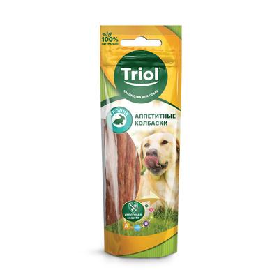 Triol (лакомства) Аппетитные колбаски из кролика для собак, 40г 10171036, 0,040 кг