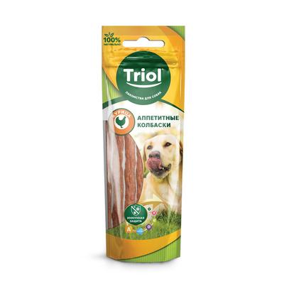 Triol (лакомства) Аппетитные колбаски из курицы для собак, 40г 10171001, 0,040 кг