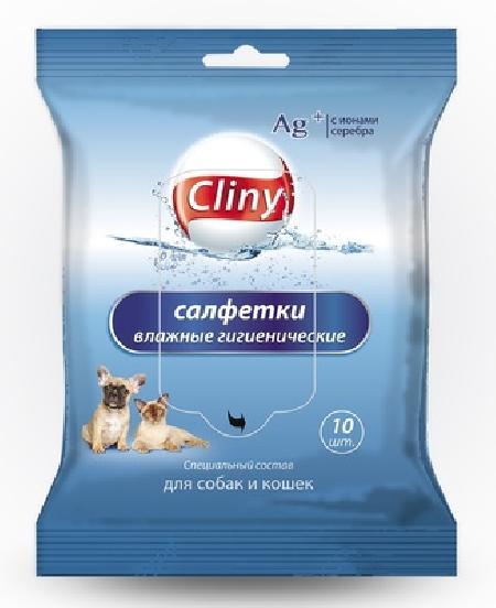 Cliny Влажные салфетки, антибактериальные с ионами серебра, 10шт. K101, 0,040 кг