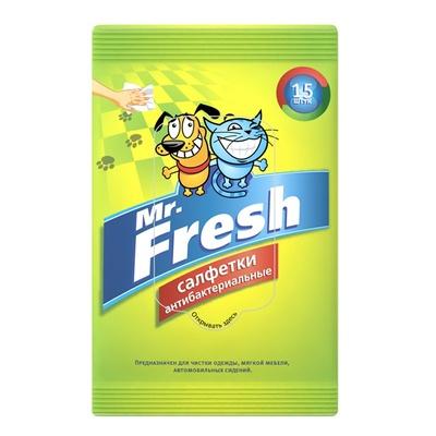 Mr.Fresh Салфетки влажные, антибактериальные, 15шт F304, 0,060 кг