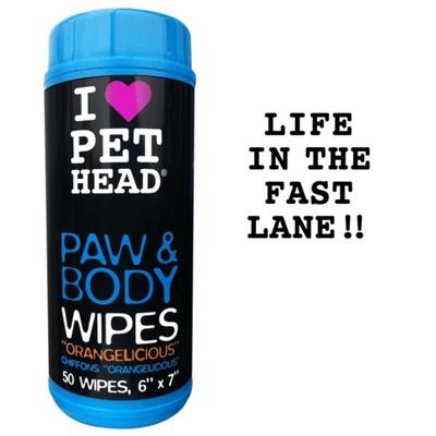 Pet Head ВИА Салфетки гипоаллергенные Цитрусовый бум для лап и тела, 50 шт. (PAW & BODY) PH10403, 0,100 кг, 50445
