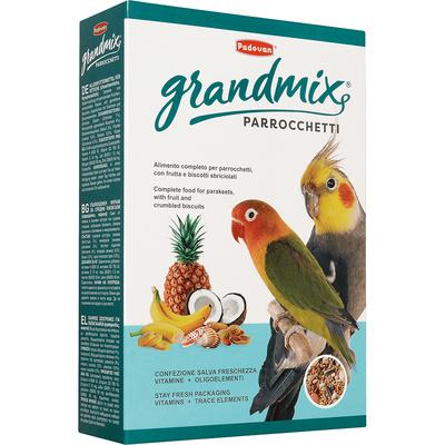 Padovan Корм для средних попугаев (Grandmix Parrocchetti) PP00185, 0,850 кг