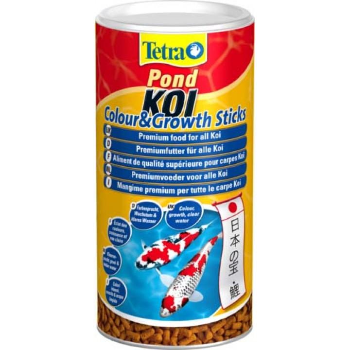 Корм для карпов Кои Tetra Pond Koi Colour & Growth Sticks 1 л, палочки, для рыб от 25 см