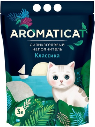 AromatiCat Силикагелевый наполнитель Классика, 3л, 1,250 кг