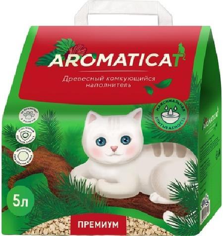 AromatiCat Древесный комкующийся наполнитель Premium, 5л, 2,000 кг