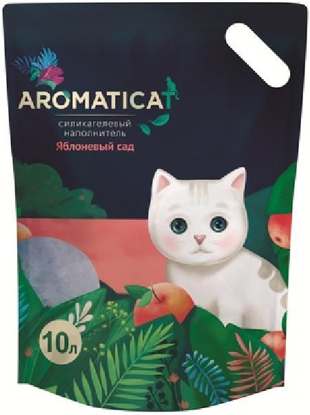 AromatiCat Силикагелевый наполнитель Яблоневый сад, 10л, 4,300 кг