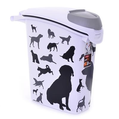 Curver PetLife Контейнер для корма Собаки, черно-белый, на 10кг/23л, 23*50*50см (210341), 1,210 кг, 18597