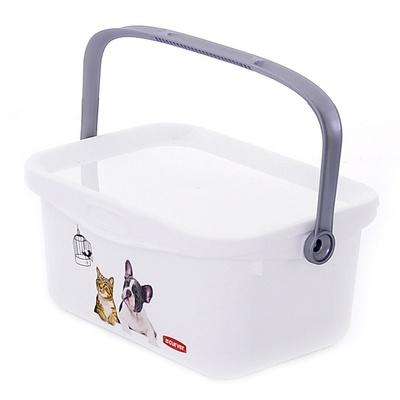 Curver PetLife Мультифункциональный контейнер Домашние любимцы малый, на 3л, 26*18*11см (221764), 0,198 кг