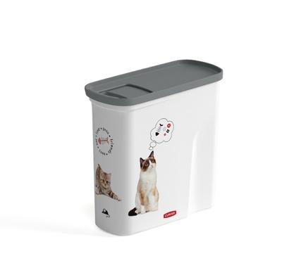 Curver PetLife Контейнер для корма Любимые котята на 2 л, 21*9*19см (241100), 0,200 кг, 34306