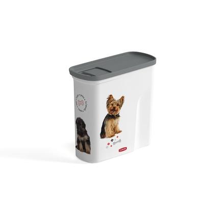 Curver PetLife Контейнер для корма Любимые щенята на 2 л, 21*9*19см (241099), 0,200 кг, 34305