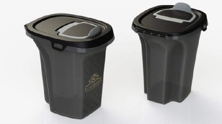 Moderna Luxurious контейнер для корма 21x27x27h см, черный, 6 л