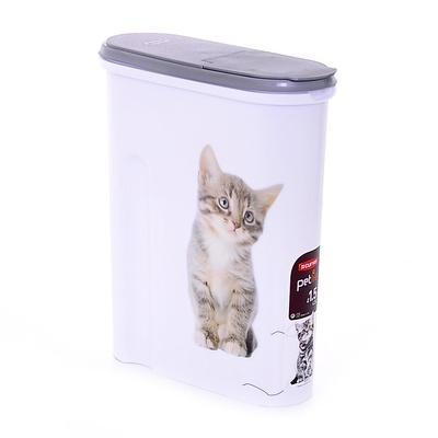 Curver PetLife ВИА Контейнер для корма Кошка на 1,5кг/4,5л, 25*10*30см (182007), 0,405 кг, 20234