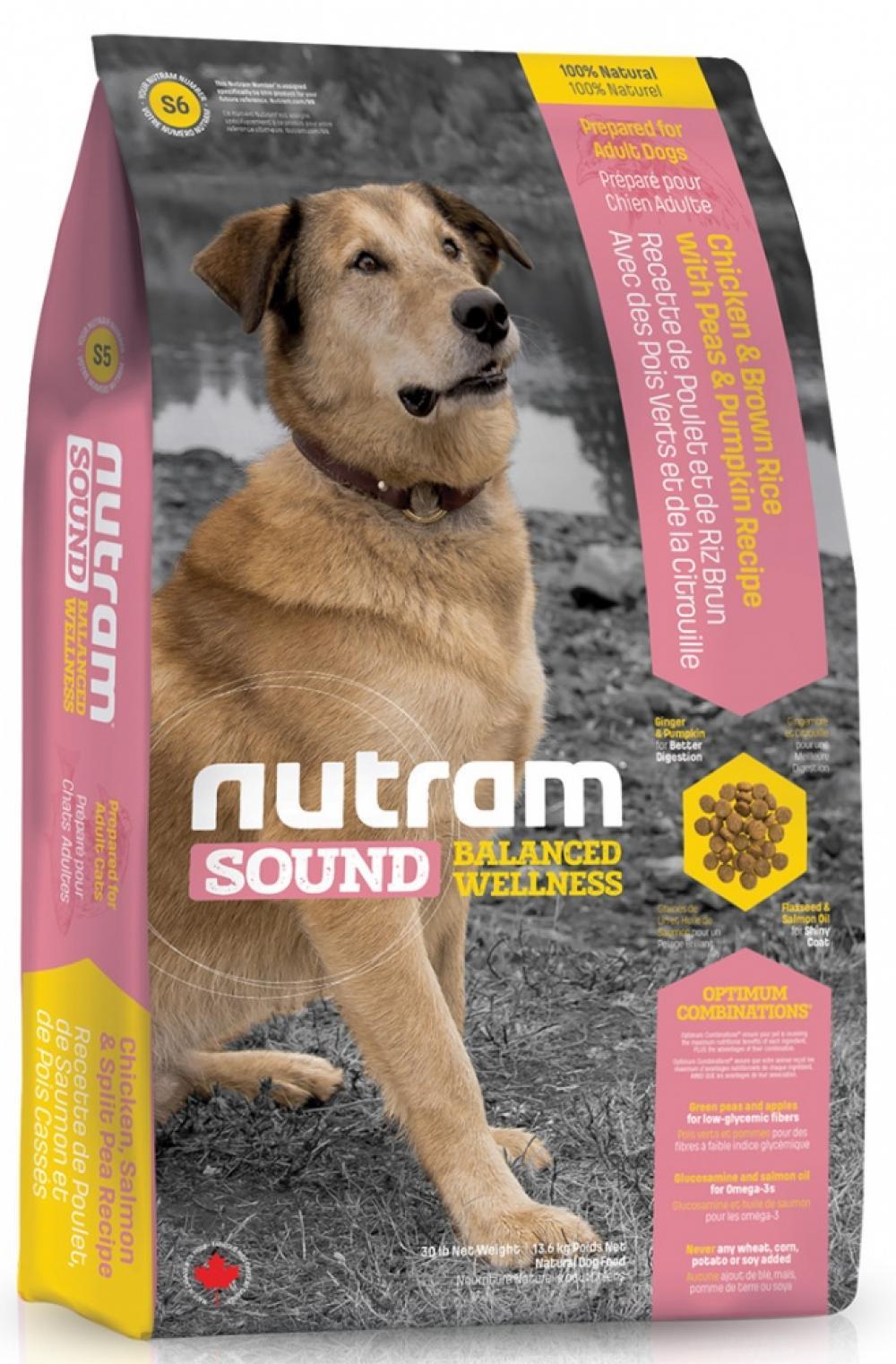 [83098]    S6 Nutram Sound Adult Dog 13.6 КГ- сухой корм для взрослых собак , 83098