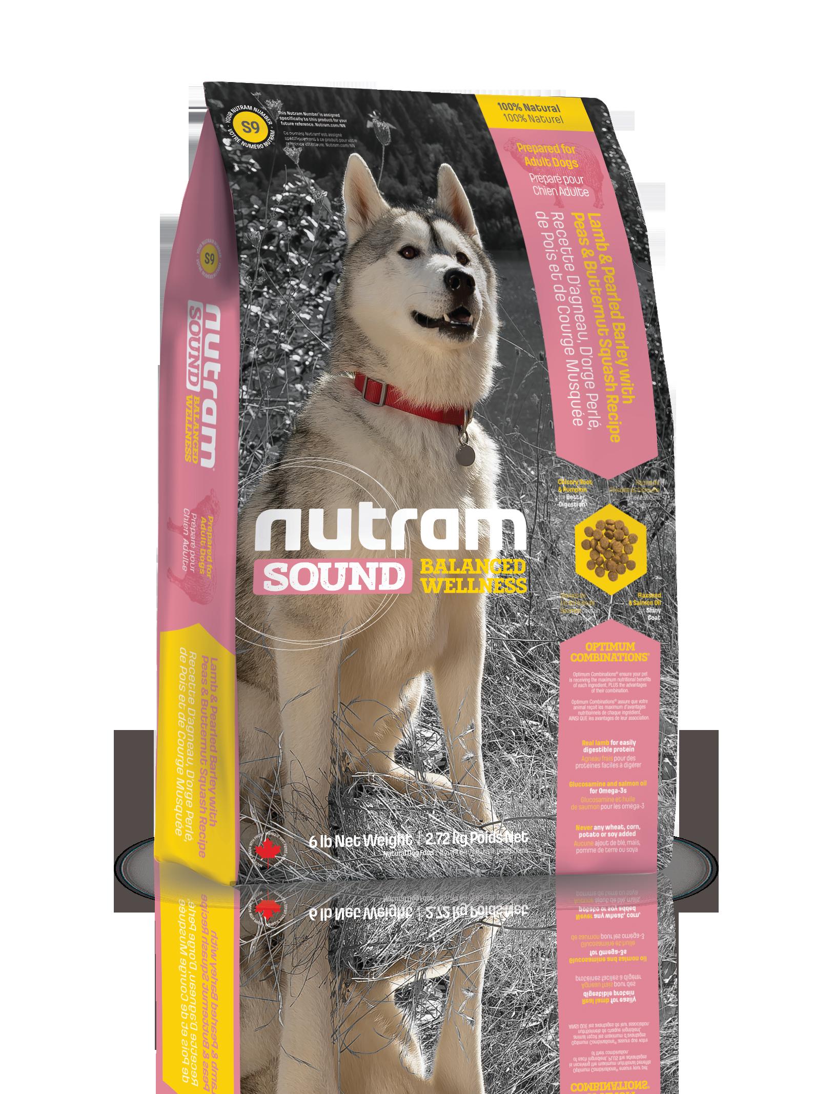 Nutram корм для взрослых собак всех пород, ягненок 500 гр