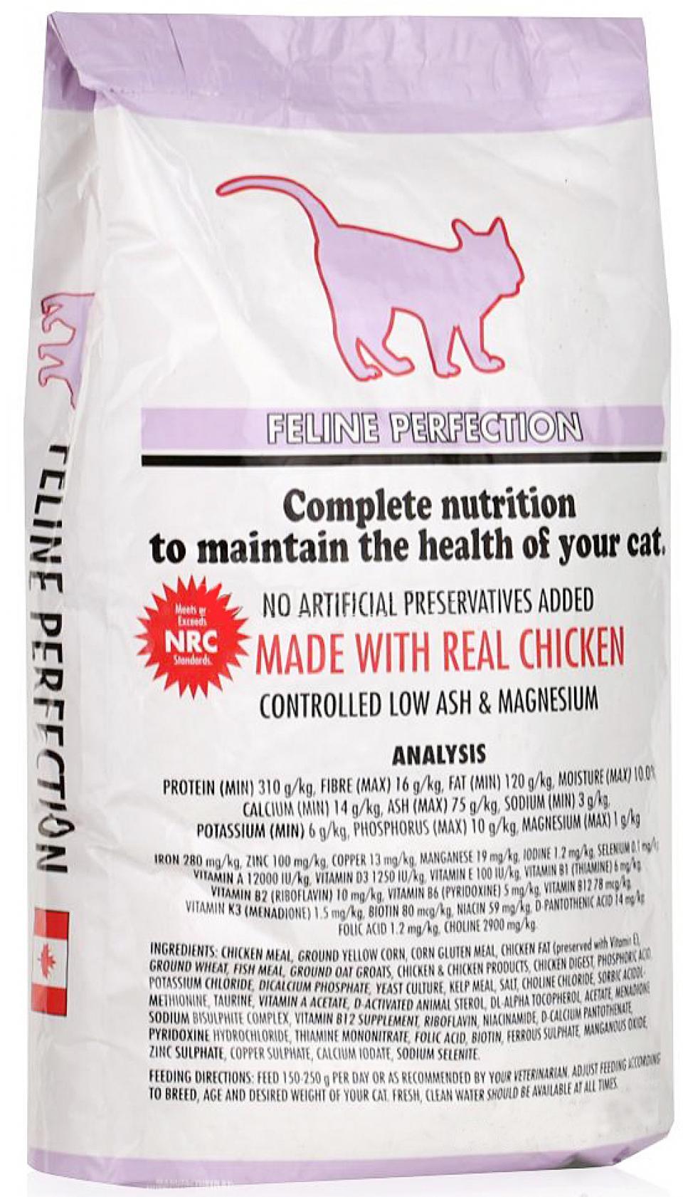 FELINE PERFECTION  корм для кошек профилактика МКБ Курица 400гр, CKK211