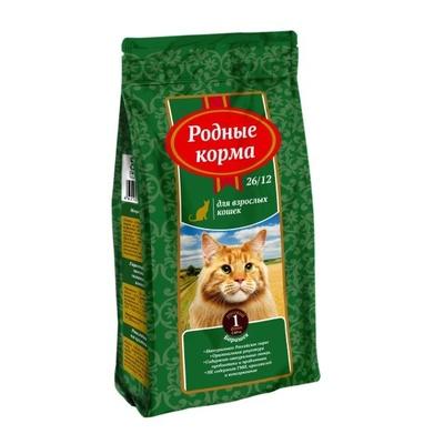 Родные корма Сухой корм для взрослых кошек с  барашком (с ягненком) 66386, 2,045 кг