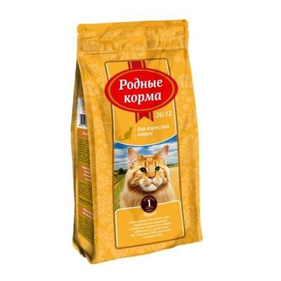 Родные корма Сухой корм для взрослых кошек с курицей 66379, 0,409 кг