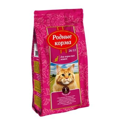 Родные корма Сухой корм для взрослых кошек с мясным рагу 66382, 0,409 кг