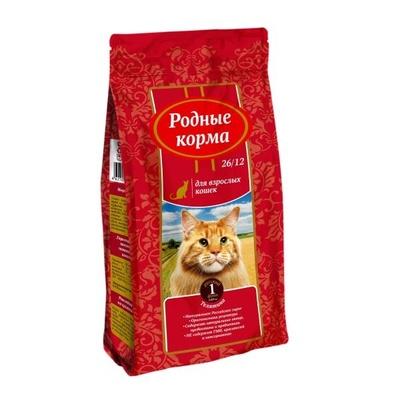 Родные корма Сухой корм для взрослых кошек с телятиной 66380, 0,409 кг