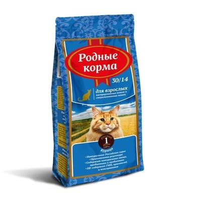 Родные корма Сухой корм для взрослых стерилизованных кошек 66383, 0,409 кг