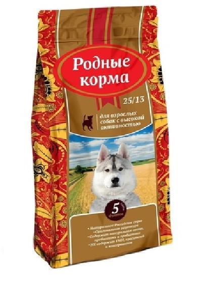 Родные корма Сухой корм для взрослых собак с высокой активностью 65172, 16,380 кг