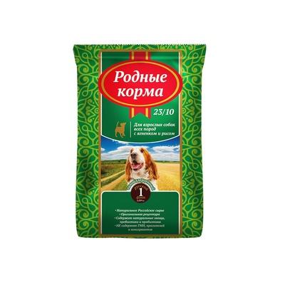 Родные Корма корм для взрослых собак всех пород, ягненок и рис 409 гр
