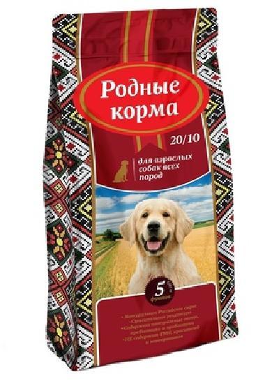 Родные корма Сухой корм для взрослых собак всех пород 65170, 16,380 кг