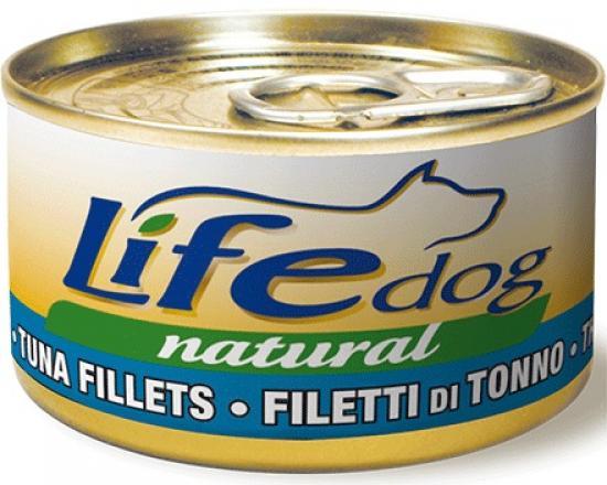 Lifedog tuna filets Деликатес для собак Филе Тунца в соусе банка 90гр 124