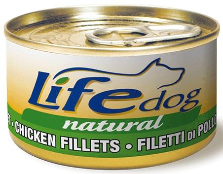 Lifedog chicken filets Деликатес для собак Куриное Филе в соусе банка 90гр 1/24, ZR20205